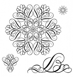 swirl ornament set vector image vector image