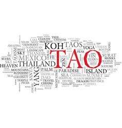 Tao word cloud concept vector