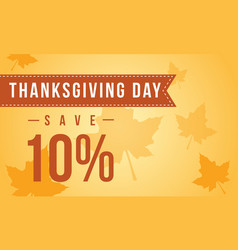Thanksgiving day sale on yellow background vector