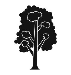 Tree icon simple style vector