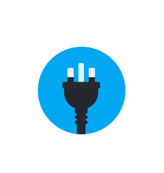 Uk electric plug icon flat style vector