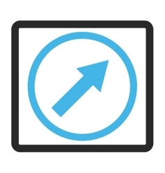 Up-Right Rounded Arrow Framed Icon vector