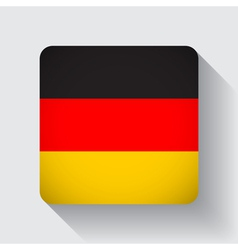 Web button with flag of Germany vector image vector image