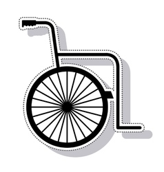 Wheelchair silhouette isolated icon vector