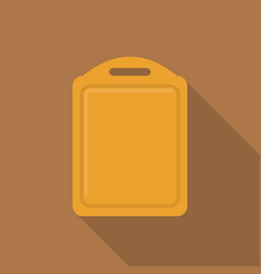 wooden cutting board icon flat style vector image