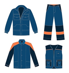 Workwear jeans vector