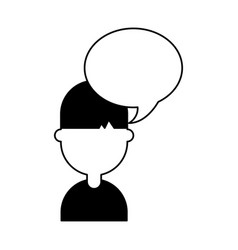 Young man with speech bubble avatar character vector