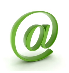 At mail contact icon vector image vector image