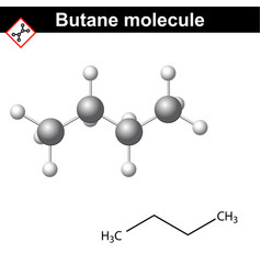 butane chemical gas compound vector image