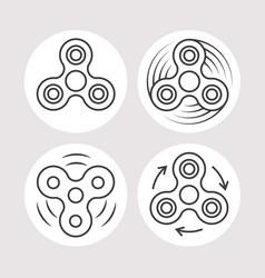 fidget spinner icons set vector image