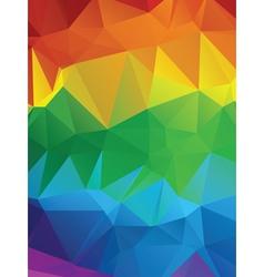 Rainbow polygonal background3 vector