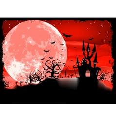 Spooky Halloween with horror house EPS 8 vector image