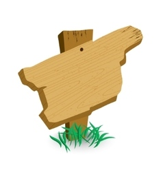 Wooden sign with green grass vector image vector image
