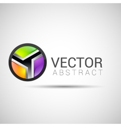 Abstract 3d sphere logos carving set Logo spheres vector image