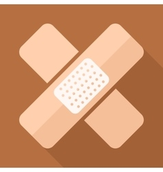Adhesive plaster icon in flat style with vector image