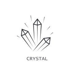 crystal symbol vector image vector image
