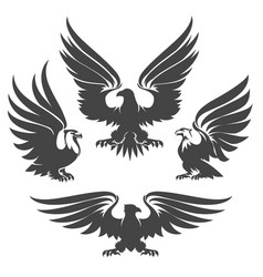 eagle emblem set vector image