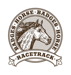 horse racetrack badges vector image vector image