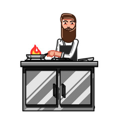 kitchen worker man vector image