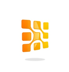 square technology abstract logo vector image