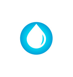 drop logo clean water sign blue droplet vector image