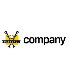 logo for baseball league vector image