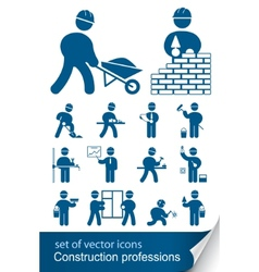 construction professions vector image vector image