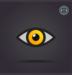 human eye icon vector image vector image