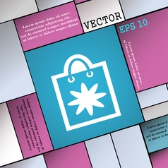 shopping bag icon sign Modern flat style for your vector image