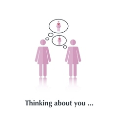 Thinking about you vector image