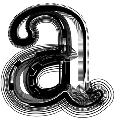 Abstract font letter a vector