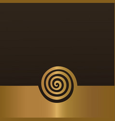 abstract gold spiral background design element vector image