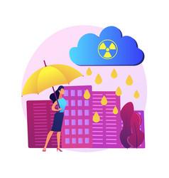 acid rain abstract concept vector image