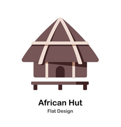 African hut flat icon vector