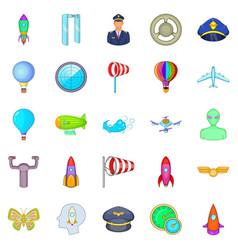 alighting icons set cartoon style vector image