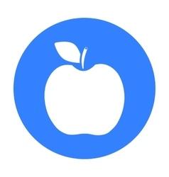 Apple icon black singe fruit icon vector