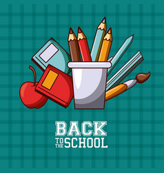 Back to school season card and poster vector
