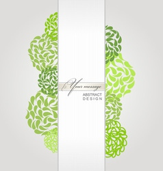 Banner green background vector