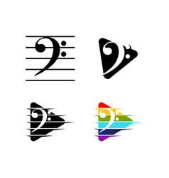 bass clef vector image