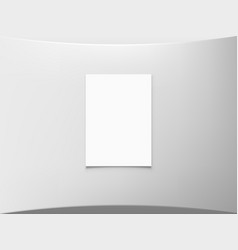 Blank white a4 paper on round wall vector