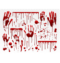 Blood drip red paint splash halloween bloody vector