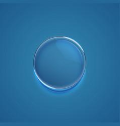 Blue realistic bubble vector