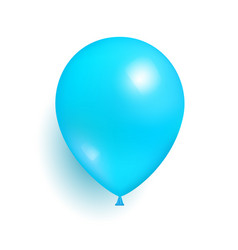 Blue toy balloon made of rubber realistic vector