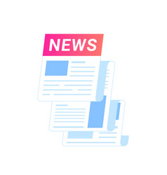 breaking news flying out as a notification of vector image