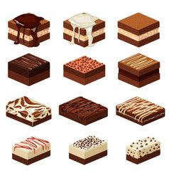 Brownies vector