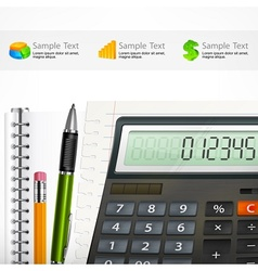 Calculator notepad vector