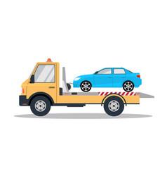 Car tow truck accident roadside assistance crash vector