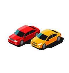 cars transport isolated on vector image