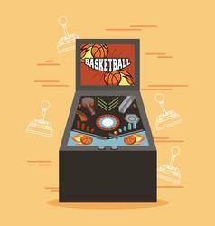 classic arcade game machine rendering vector image