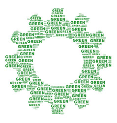 cog mosaic of green text icons vector image